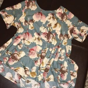 floral pattern peplum top